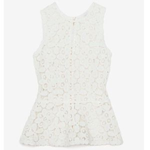 INTERMIX lace top with back zipper